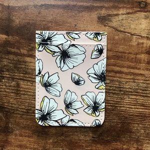 Modern Blush Poppy Floral Pattern Phone Card Case
